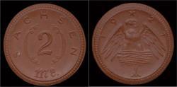 World Coins - Germany Sachsen notgeld 2 mark 1921