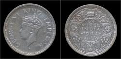 World Coins - India King George VI 1/4 rupee 1944.