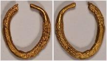 Celtic gold ring money.