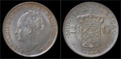 World Coins - Curacao Wilhelmina I 2 1/2 gulden (rijksdaalder) 1944
