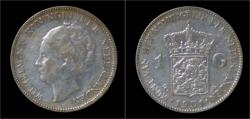 World Coins - Netherlands Wilhelmina I 1 gulden 1931
