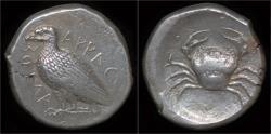 Ancient Coins - Sicily Akragas AR tetradrachm