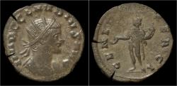 Ancient Coins - Claudius II Gothicus Billon antoninianus Genius standing left