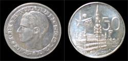 World Coins - Belgium Boudewijn I 50 frank 1958FR- Worldfair 1958