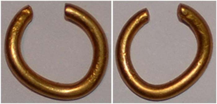 celtic gold ring money hair ring
