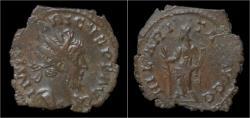 Ancient Coins - Tetricus I billon antoninianus Hilaritas standing left.