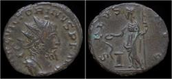 Ancient Coins - Victorinus billon antoninianus Salus standing left