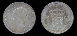 World Coins - Netherlands Wilhelmina I 1 gulden 1923