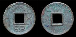 Ancient Coins - China Xin Dynasty emperor Wang Mang AE 50 cash