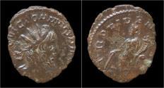 Ancient Coins - Victorinus billon antoninianus Providentia standing left