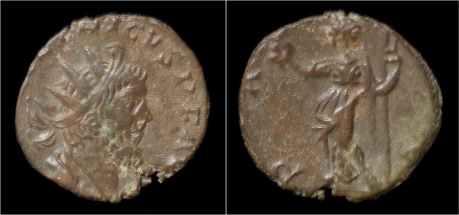 Ancient Coins - Tetricus I billon antoninianus Pax standing left.