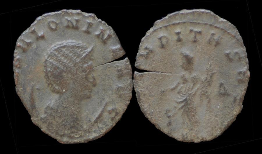 Ancient Coins - Salonina billon antoninianus Aequitas standing left