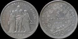 World Coins - France 5 francs 1849A- Hercules