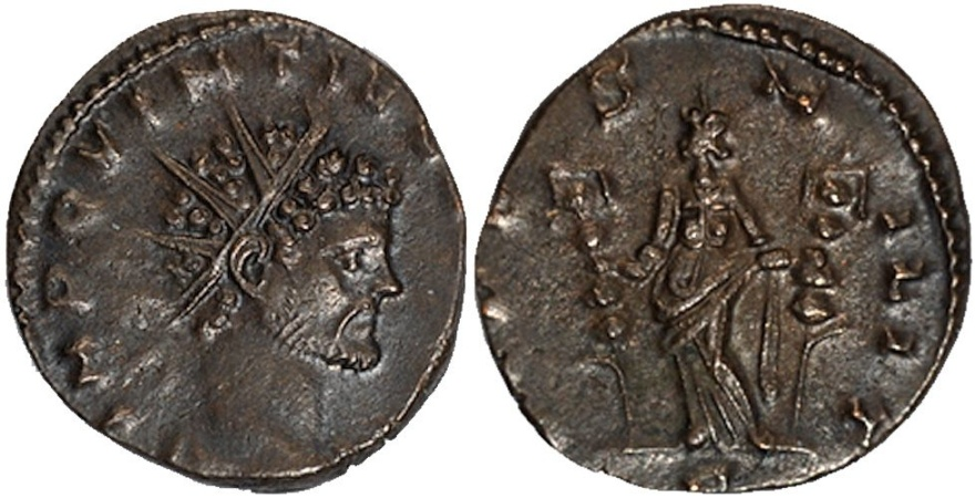 Ancient Coins - Quintillus antoninianus Fides standing facing