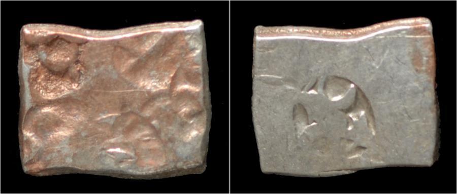 Ancient Coins - Mauryan Empire Samprati AR drachm.