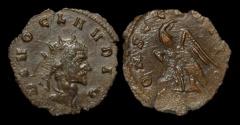 Ancient Coins - Divo Claudius II Gothicus billon antoninianus eagle standing facing