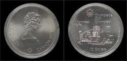 World Coins - Canada 10 dollar 1973- Montreal olympics 1976.