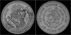 World Coins - Mexico 1 peso 1960