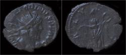 Ancient Coins - Victorinus billon antoninianus Salus standing right