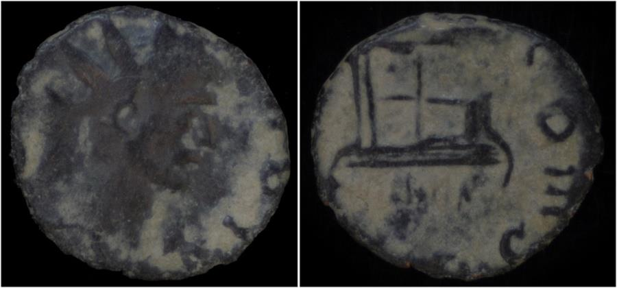 Ancient Coins - Divo Claudio AE antoninianus altar.