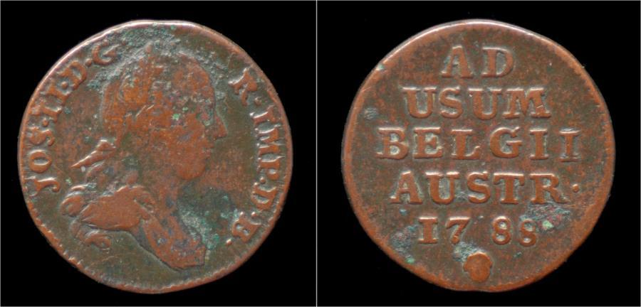 World Coins - Austrian Netherlands Brabant Joseph II oord (liard)1788.