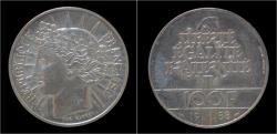 World Coins - France 100 franc 1988- commemorative coin Fraternity.