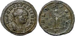 Ancient Coins - Tacitus billon antoninianus Salus standing right