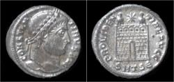 Ancient Coins - Constantine I silvered AE3 campgate