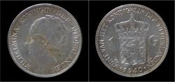 World Coins - Netherlands Wilhelmina I 1 gulden 1940
