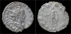 Ancient Coins - Saloninus AR antoninianus Spes holding flower.