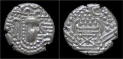 Ancient Coins - India Chalukyas of Gujarat Gadhaiya Paisa AR drachm