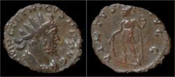 Ancient Coins - Tetricus I billon antoninianus Virtus standing left