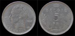 World Coins - Belgium Leopold III 5 frank 1936 VL- pos A