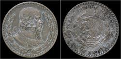 World Coins - Mexico 1 peso 1959