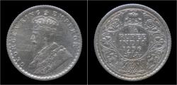 World Coins - India King George V 1/4 rupee 1936