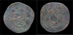 World Coins - Netherlands Holland Filip II liard(oord)