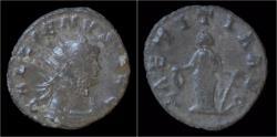 Ancient Coins - Gallienus billon antoninianus Laetitia standing left