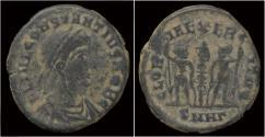Ancient Coins - Constantius II half follis