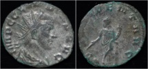 Claudius II Gothicus silvered antoninianus Providentia standing left