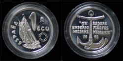 World Coins - Spain 1 ecu 1995- Spanish brig