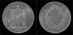 World Coins - France 10 francs 1966- Hercules
