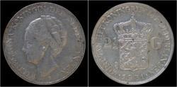 World Coins - Netherlands Wilhelmina I 2 1/2 gulden(rijksdaalder)1931