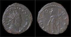 Ancient Coins - Tetricus I billon antoninianus Virtus standing left.