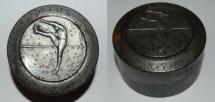 World Coins - poinçon from G CONTAUX saut en hauteur 60/41 mm iron medal