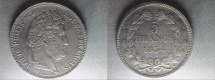 World Coins - silver 5 francs 1834 W Lille mint from louis philippe I er