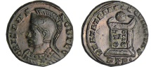 Ancient Coins - follis from crispus ric 351 variety  3,3grs  very rare trier