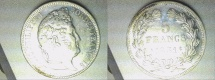 World Coins - silver 5 francs A paris mint tranche en relief Louis Philippe I er
