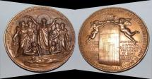 World Coins - ae lrge medal from OUDINE 87 mm exposition 1878 rare bronze medal