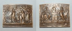 World Coins - ae medal from A BORREL 65/50 mm ligue de l'enseignement bronze medal