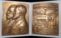 World Coins - AE medal from ANDRE LAVRILLIER 1923 101/81 mm lederlin art deco bronze medal
